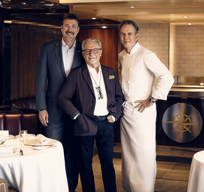 Richard Meadows, President of Seabourn; Adam Tihany, designer for The Grill; Chef Thomas Keller