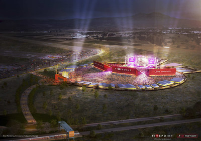 Artist Rendering of FivePoint and Live Nation Interim Amphitheater