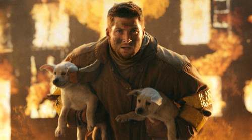 Tim Tebow appears in T-Mobile Super Bowl commercial.  (Photo from ad shot by Stacy Wall, Imperial Woodpecker ...