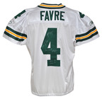 Back of jersey from uniform Brett Favre wore in Nov. 30, 2007 Packers/Vikings game in which he set NFL all-time record for passing touchdowns. Grey Flannel Auctions image.  (PRNewsFoto/Grey Flannel Auctions)