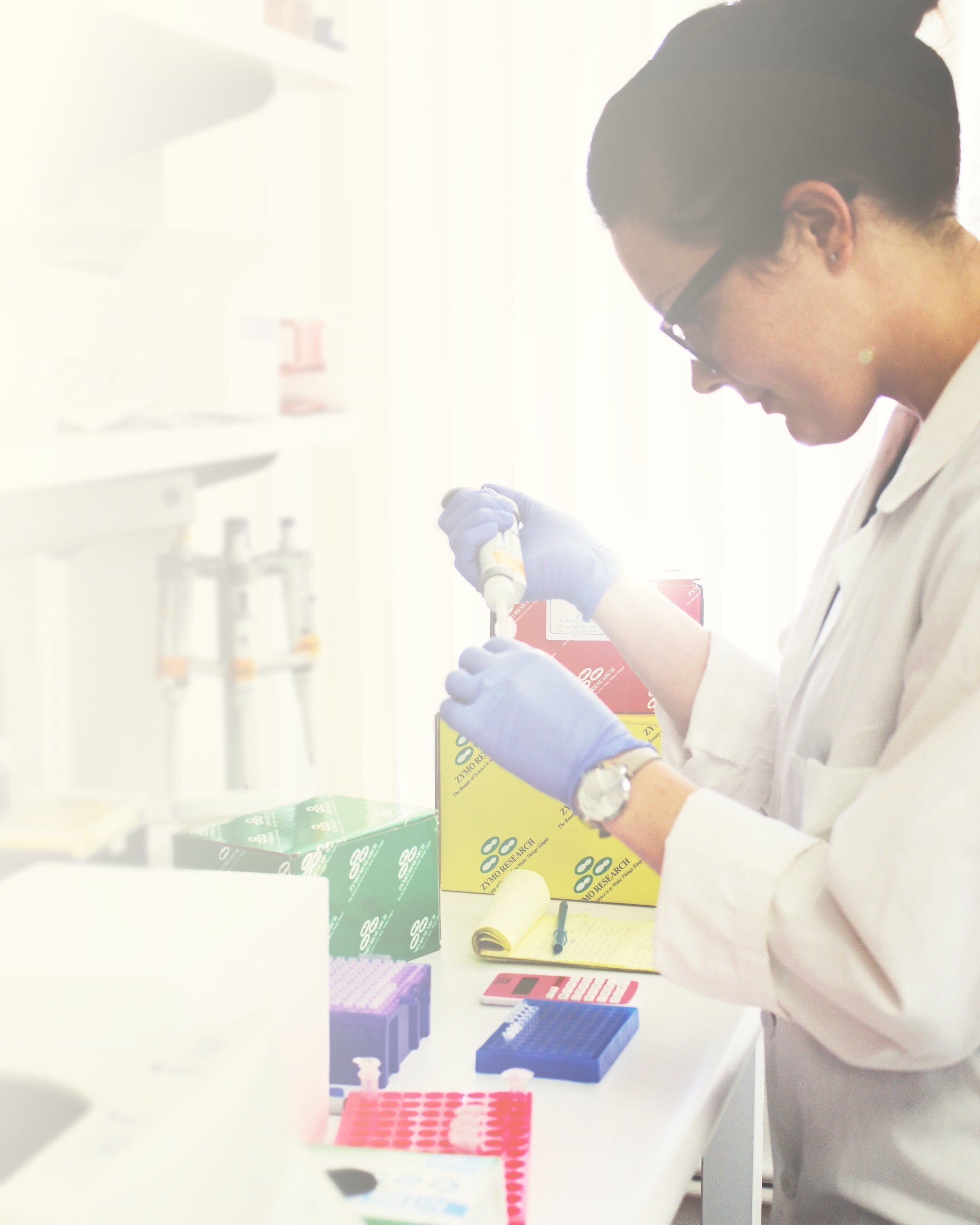 A Zymo Research scientist conducting a test using the new FFPE RNA Kit.