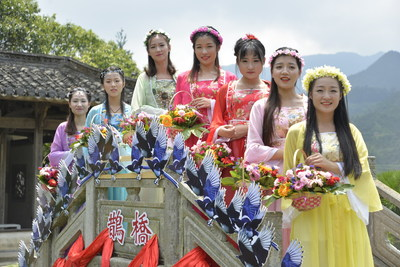 The beautiful Chinese countryside village of Huangling hosted the Qixi Festival on August 7 with traditional folk activities and performances to celebrate the Chinese Valentine's Day.