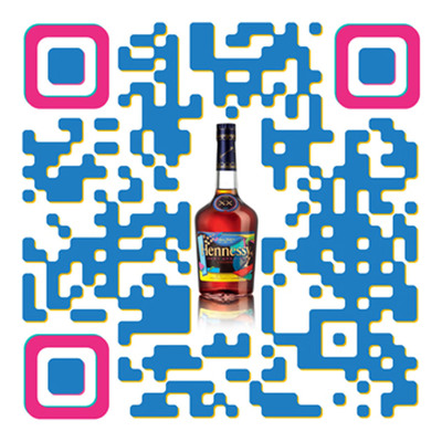 Hennessy KAWS Custom QR Code.  (PRNewsFoto/Hennessy)