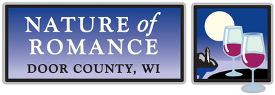 Door County Nature of Romance logo. Logo credit: Door County Visitor Bureau.