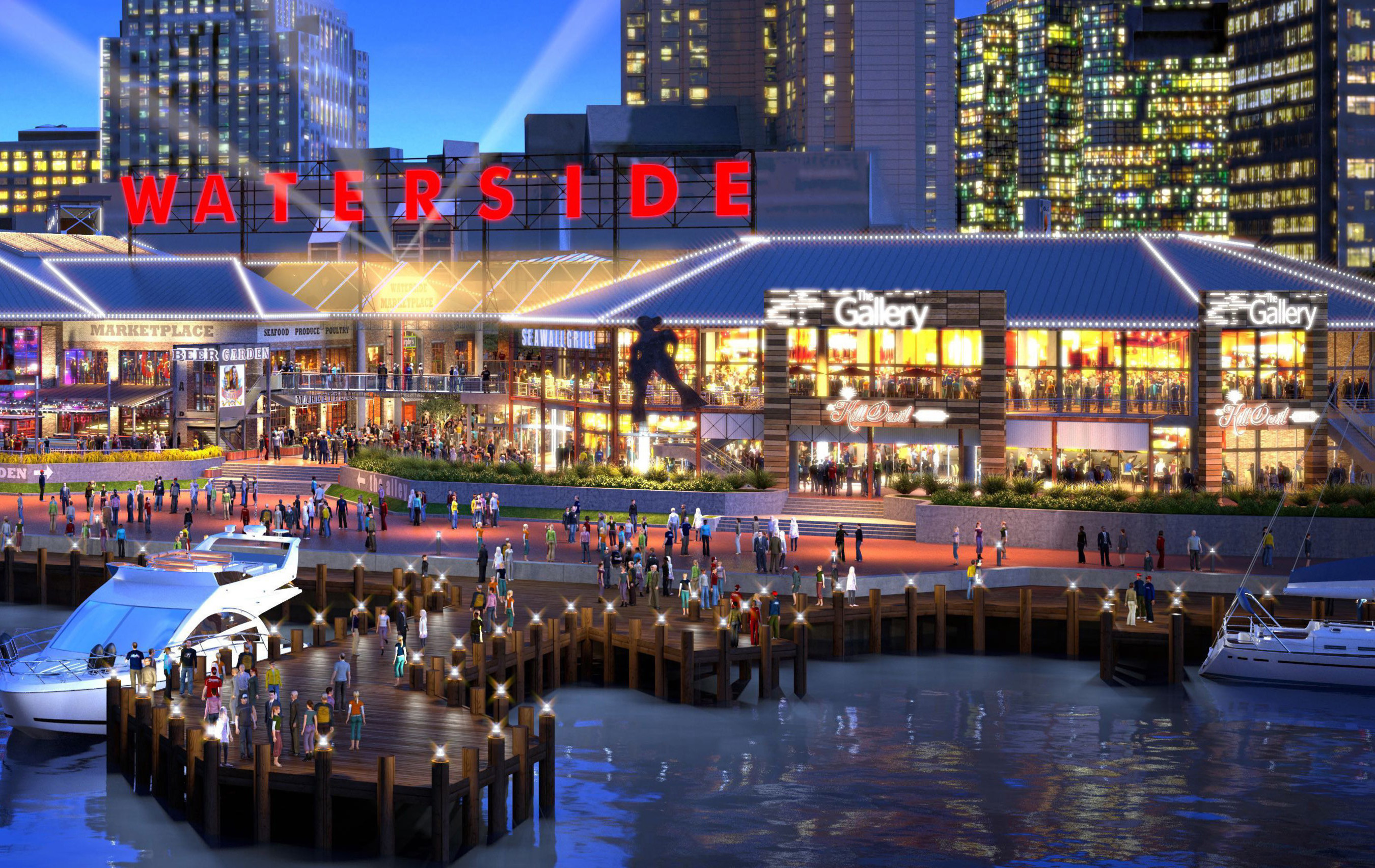 Slated to open Spring 2017, Waterside District will bring 1,000 new jobs to the Hampton Roads region