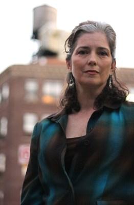 Actress Suzanne Savoy and the original Knickerbocker Hospital in Upper Manhattan. (Photo: Joe Silver)