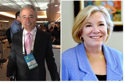 White Plains, N.Y., Friday, Sept. 16, 2016 - Juan Luis Salgado-Morales, MD, FACOG, President and CEO of Vita Healthcare of San Juan, Puerto Rico (left) and Sue Schick, Chief Growth Officer at UnitedHealthcare Community & State, Charlotte, North Carolina (right), have been elected to the March of Dimes National Board of Trustees. (Photo courtesy March of Dimes Foundation)