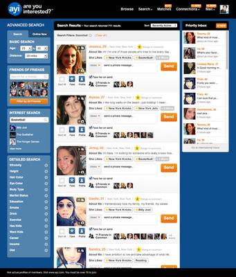 AYI Interest Search - Basketball. (PRNewsFoto/SNAP Interactive, Inc.) (PRNewsFoto/SNAP INTERACTIVE, INC.)