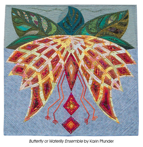 Butterfly or Waterlily Ensemble by Karin Pfunder. (PRNewsFoto/National Quilt Museum) (PRNewsFoto/NATIONAL QUILT MUSEUM)