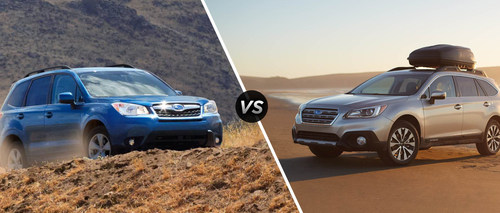 subaru dealer highlights the differences between 2015 forester and outback. Black Bedroom Furniture Sets. Home Design Ideas