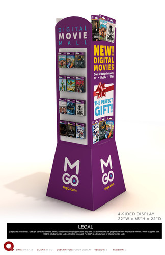 M-GO Delivers Innovative Way to Gift Digital Movies This Holiday Season.  (PRNewsFoto/M-GO)