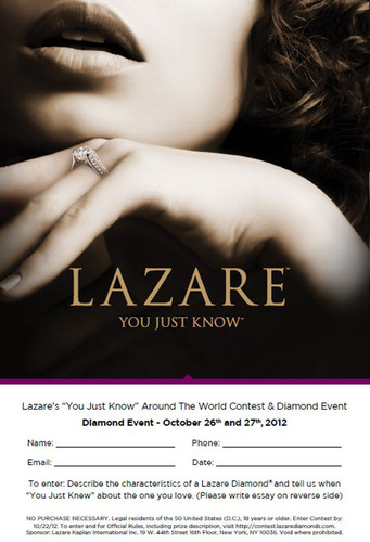 Lazare - 'You Just Know' Around The World Contest And Diamond Event