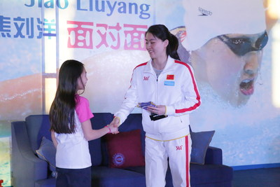 China's Olympic Swimming Champion Jiao Liuyang Interacts with Students of Keystone Academy Beijing