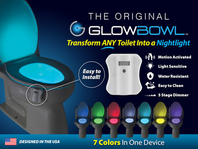 GlowBowl - Motion-Activated Night Light for your Toilet! www.GlowBowl.com