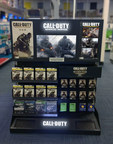 HyperSound(R) audio emitters and a sub-woofer are integrated into the base of the Call of Duty: Advanced Warfare retail display and create a zone of audio that encompasses anyone standing in front of the display.