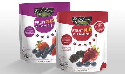 Rader Farms(R) Fruit PLUS Vitamins(TM) is the first fortified whole frozen fruit product to boost nutritional values of whole strawberries, blueberries and blackberries with five additional vitamins, including B1, B6, D, E and K. Using topical nutrients sourced only from whole fruits and vegetables, Fruit PLUS Vitamins offers a fresh approach to homemade smoothies and fresh fruit snacking.
