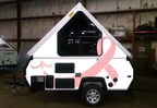 2017 Aliner Pink on White Breast Cancer Awareness Camping Trailer