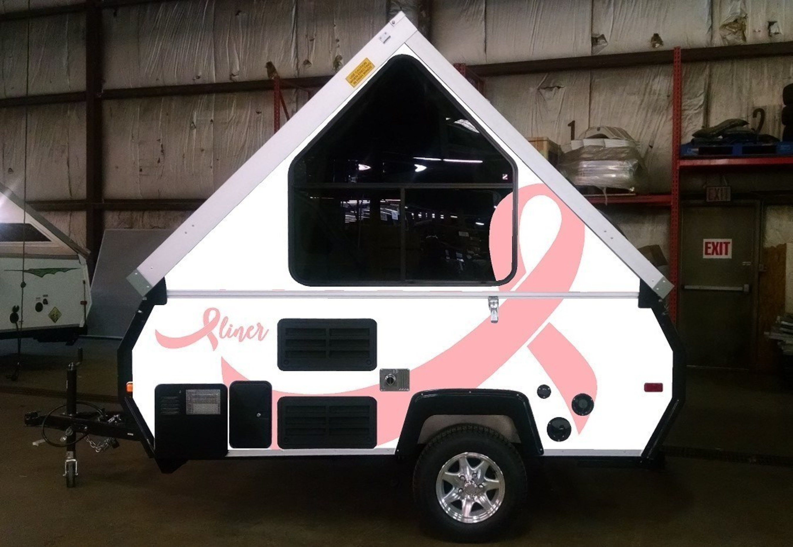 2016 Aliner Pink on White Breast Cancer Awareness Camping Trailer