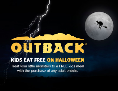 No Tricks. Just Treats, Mates! Outback Steakhouse(R) is offering a FREE kids meal on Halloween with purchase of an adult entree -- No coupon necessary. (PRNewsFoto/Outback Steakhouse) (PRNewsFoto/OUTBACK STEAKHOUSE)