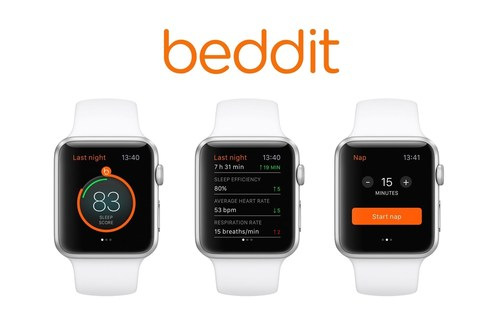 New Beddit app delivers sleep tracking automatically, while Apple Watch charges (PRNewsFoto/Beddit OY) (PRNewsFoto/Beddit OY)