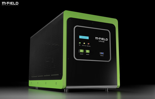 M-Field hydrogen fuel cell, suited for critical backup power applications where power breakdowns can be extremely costly. (PRNewsFoto/M-FIELD)
