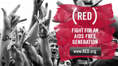 Live Nation Entertainment works with (RED) to raise money for the Global Fund to fight AIDS.  (PRNewsFoto/Live Nation Entertainment)