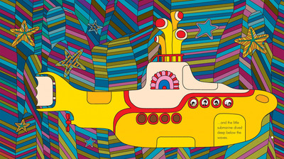 An exclusive Beatles 'Yellow Submarine' book that lets readers tap their iPad, iPhone and iPod touch to immerse themselves in the legendary film's colorful sights and sounds is available for free download on Apple's iBookstore worldwide. The vibrantly illustrated book was designed by Fiona Andreanelli using Heinz Edelmann's original artwork from the film, and its story has been adapted by Charlie Gardner from the film's original screenplay, co-written by Lee Minoff, Al Brodax, Jack Mendelsohn and Eric Segal.      (PRNewsFoto/Apple Corps Ltd., Subafilms Ltd.)
