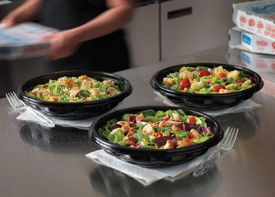 Domino's is now offering salads nationwide. The salads are available in three varieties: Classic Garden, Chicken Caesar and Chicken Apple Pecan.