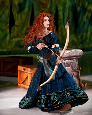 Merida from the hit Disney Pixar film BRAVE makes her skating debut in Disney On Ice presents Rockin' Ever After.  (PRNewsFoto/Feld Entertainment, Inc.)
