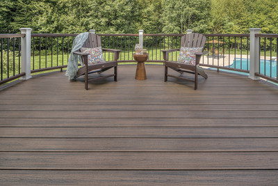 Composite decking by Trex