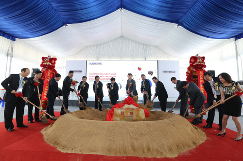 Senior Officers and executives from Huntsman Polyurethanes Shanghai attended an inauguration ceremony for the ...
