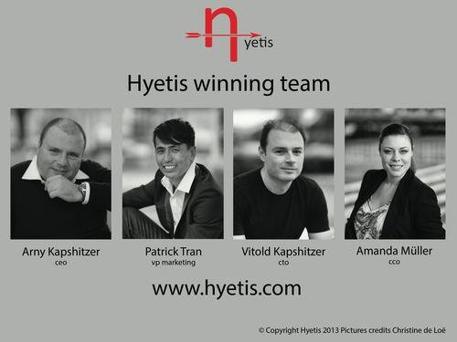 Hyetis Team (PRNewsFoto/Hyetis Sarl)