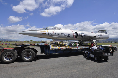 The iconic Lockheed F-104A Starfighter arrives at Pacific Aviation Museum Pearl Harbor.  (PRNewsFoto/Pacific Aviation Museum Pearl Harbor)