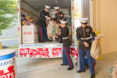 """Through December 6, customers can donate new, unwrapped toys at Toys""""R""""Us and Babies""""R""""Us stores across the country and online at http://www.Toysrus.com/ToysforTots and provide monetary donations in-store and online through Christmas Eve."""
