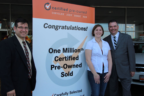 1 Millionth Chrysler Group Certified Pre-Owned Vehicle Sold By Illinois Dealer