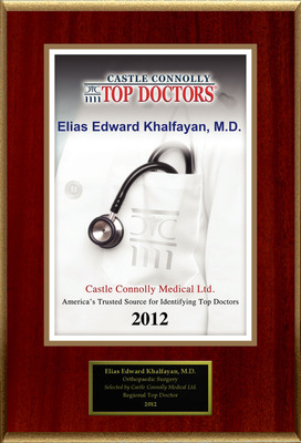 Dr. E. Edward Khalfayan, M.D. Is Recognized Among Castle Connolly's Top Doctors(R) For Seattle, WA Region.  (PRNewsFoto/American Registry)