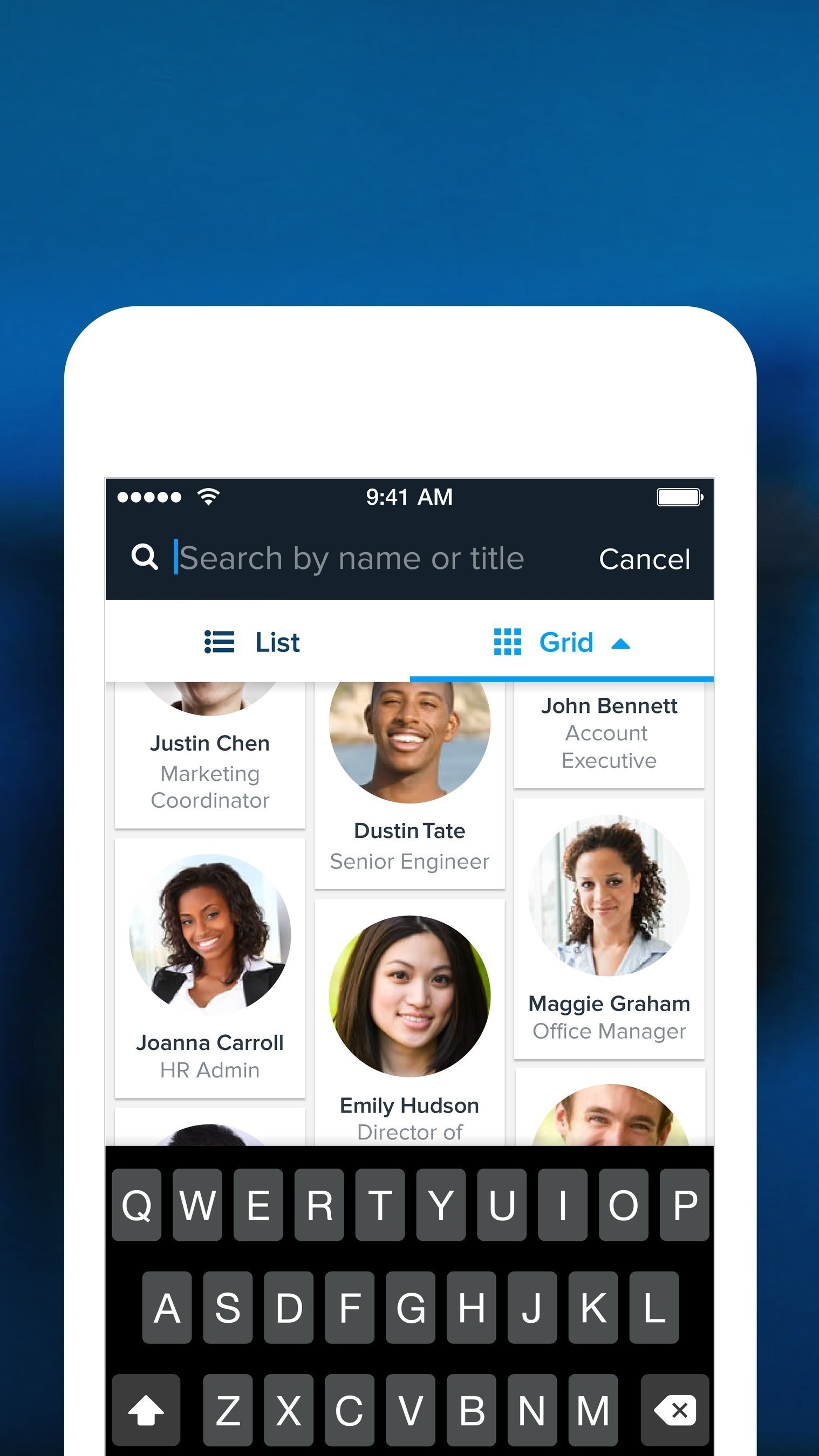 Instantly search and contact employees with Namely's new mobile app for iOS.