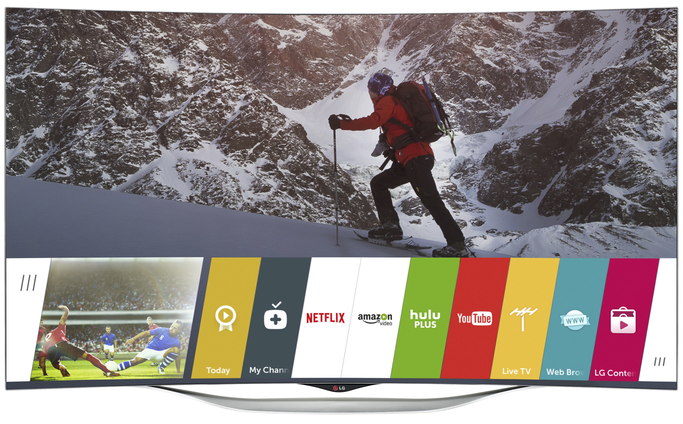 LG Electronics USA today announced a no-cost firmware update for its webOS Smart TV platform on 2014 smart TV models, including the EC9300 (pictured). A free upgrade o this scale is unprecedented in the smart TV industry.