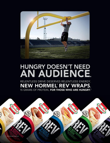 Both:  New Hormel(R) REV(R) Wraps Energize the Protein-Based Snack Category.  (PRNewsFoto/Hormel Foods)