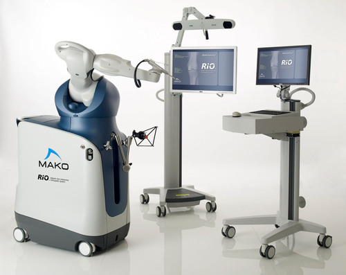 DMC Huron Valley-Sinai Hospital's new MAKOplasty RIO, a highly advanced, surgeon controlled robotic arm system.  (PRNewsFoto/DMC Huron Valley-Sinai Hospital)