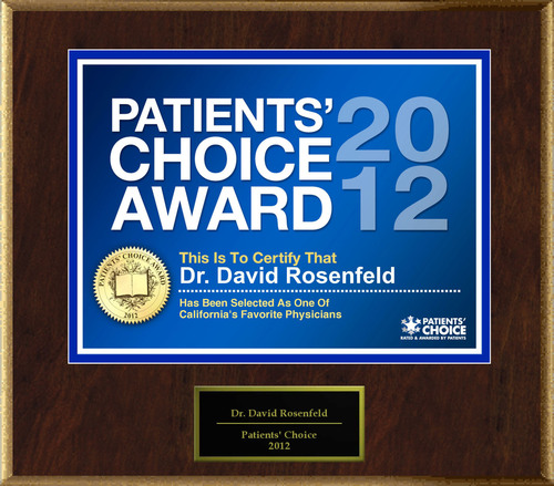 "David Rosenfeld Selected For ""2012 Patients' Choice"".  (PRNewsFoto/American Registry)"