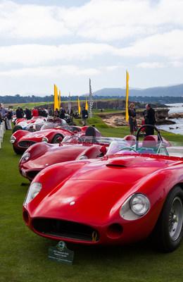 Maserati 100 display at Pebble Beach (PRNewsFoto/Maserati North America, Inc.)