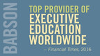 The Financial Times has recognized Babson as one of the best providers of customized executive education in its 2016 Executive Education rankings. The institution is ranked No. 7 among the top 17 business schools in the United States, and No. 25 out of 85 executive education providers worldwide.