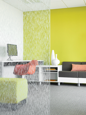 Eastman Chemical Company just unveiled its expanded LLumar(R) iLLusions(TM) decorative window film line at the American Institute of Architects (AIA) National Convention in Chicago on June 26-28.  At a fraction of the cost of etched glass, LLumar iLLusions can be used to create a mood, address a functional concern, or define a space. This decorative window film is available in a broad selection of styles, ranging from bold hues and opaques to patterns, textures, gradients, frosts, and specialty designs. LLumar iLLusions is durable but removable, so it can change as the design requirements of commercial building professionals evolve. (PRNewsFoto/Eastman Chemical Company)