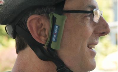 Mike wearing Wind-Blox.  (PRNewsFoto/Wind-Blox)