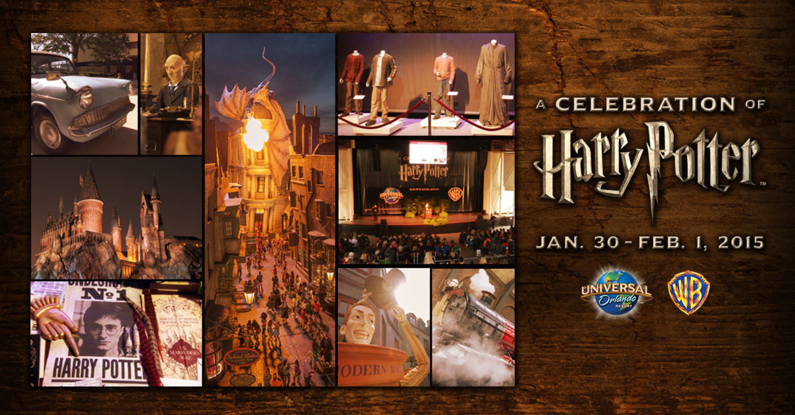 "HARRY POTTER FILM TALENT ROBBIE COLTRANE, MICHAEL GAMBON, JAMES PHELPS, OLIVER PHELPS AND EVANNA LYNCH TO APPEAR AT ""A CELEBRATION OF HARRY POTTER"" EVENT AT UNIVERSAL ORLANDO RESORT JANUARY 30 - FEBRUARY 1, 2015"