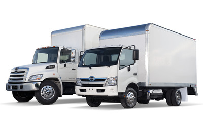 Joining the Hino Trucks conventional lineup is the new cab over engine truck (model 155h).  (PRNewsFoto/Hino Trucks, Guy Spangenberg)