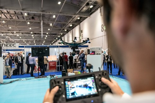 One of the many great displays from the 'Drone Zone' which was on show at IFSEC International 2015 (PRNewsFoto/IFSEC International)