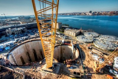 DC Water's Blue Plains Tunnel was selected best overall from among the winners of nearly 20 different award categories and won additional distinction as the Best Water/Environment Project of 2016. (Photo credit: Traylor Bros., Inc.)