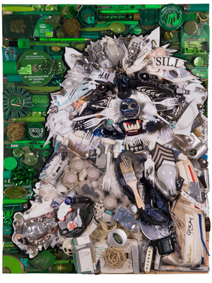 Glad(R) ForceFlex(R) Black Bag has partnered with acclaimed artist Jason Mecier to create custom artwork from the remnants of wild moments of Hollywood stars.  (PRNewsFoto/The Glad Products Company)